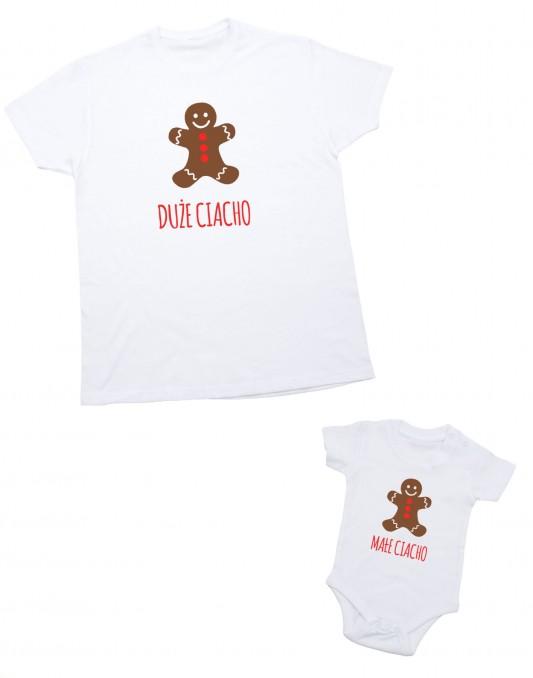 Zestaw koszulek świątecznych dla taty i dziecka MAŁE CIACHO