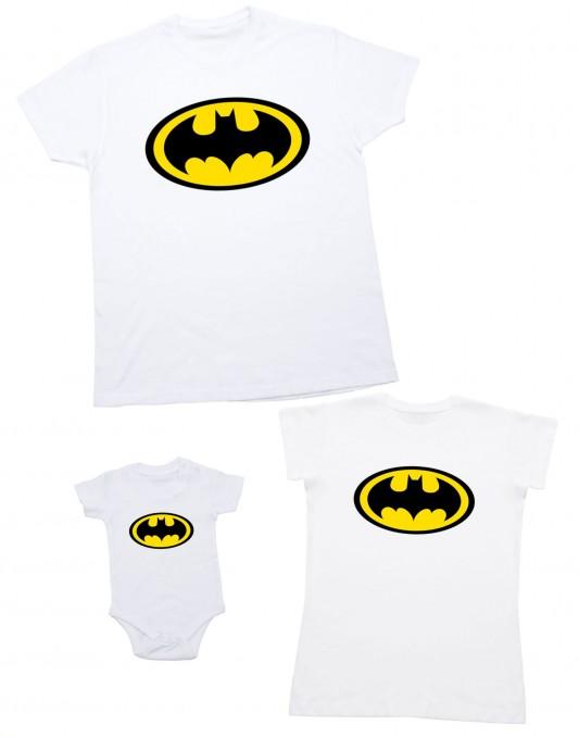Zestaw dla rodziny BATMAN białe