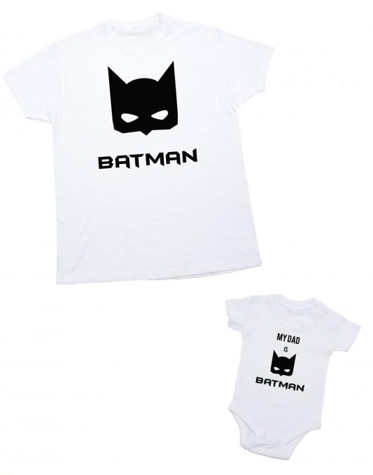 Zestaw dla taty i dziecka My DAD IS BATMAN