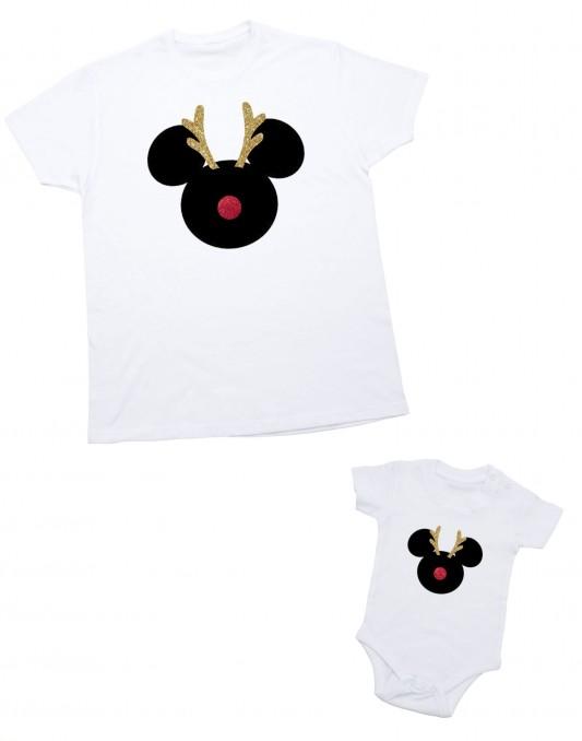 Zestaw koszulek świątecznych dla taty i dziecka
